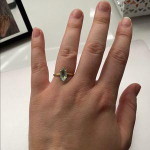 Aquamarine 14k gold ring
